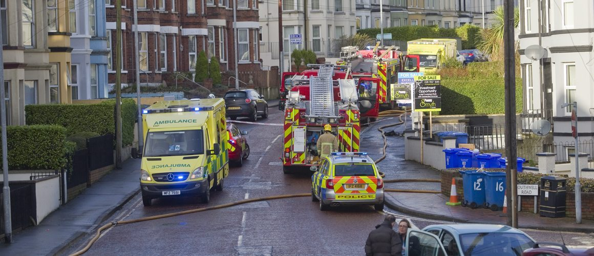 Woman rescued from blaze