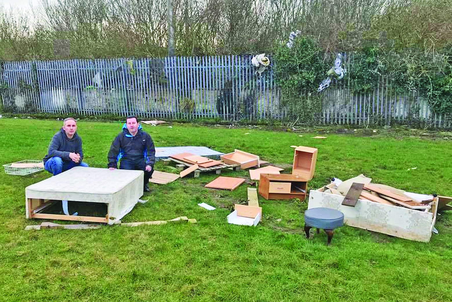 Fly-tippers dump entire bedroom
