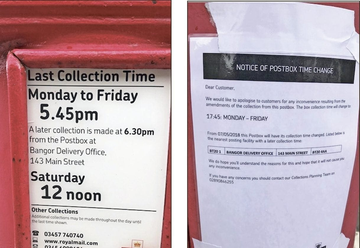Time moves on for postboxes
