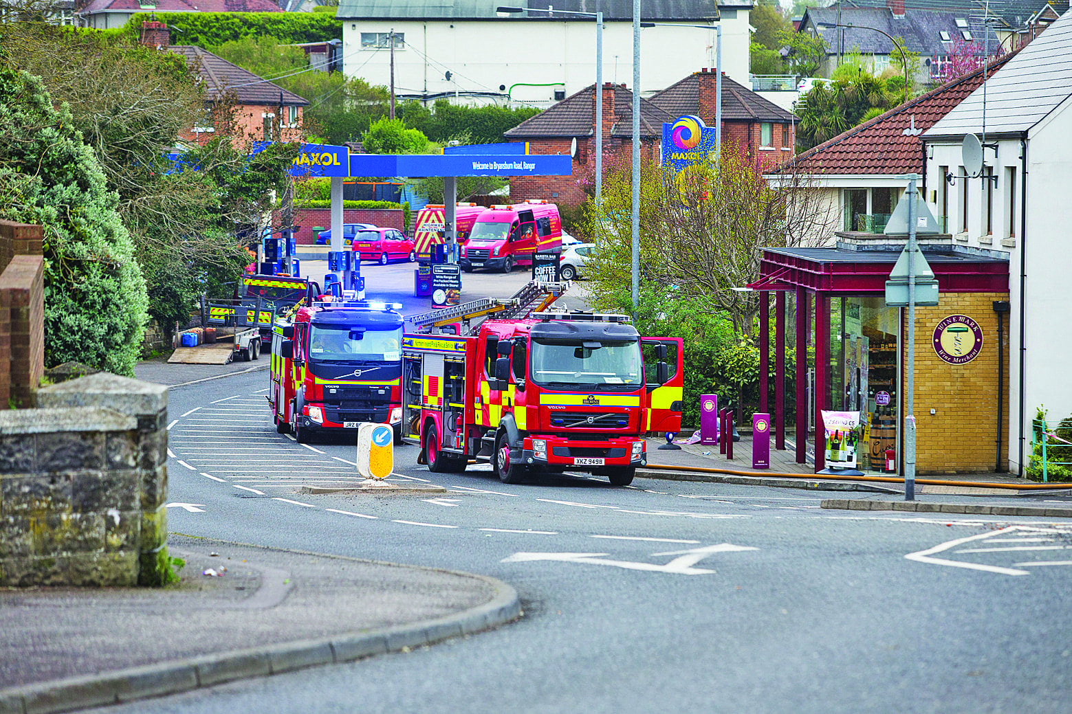 Road closed after gas scare