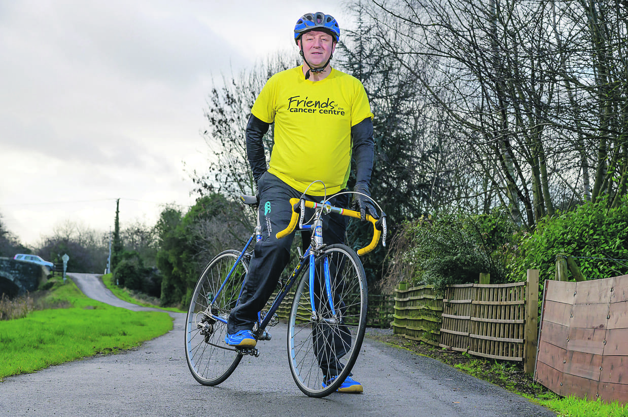 Peter takes to the saddle to support cancer charity