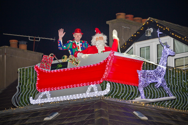 Santa arrives early in Bangor