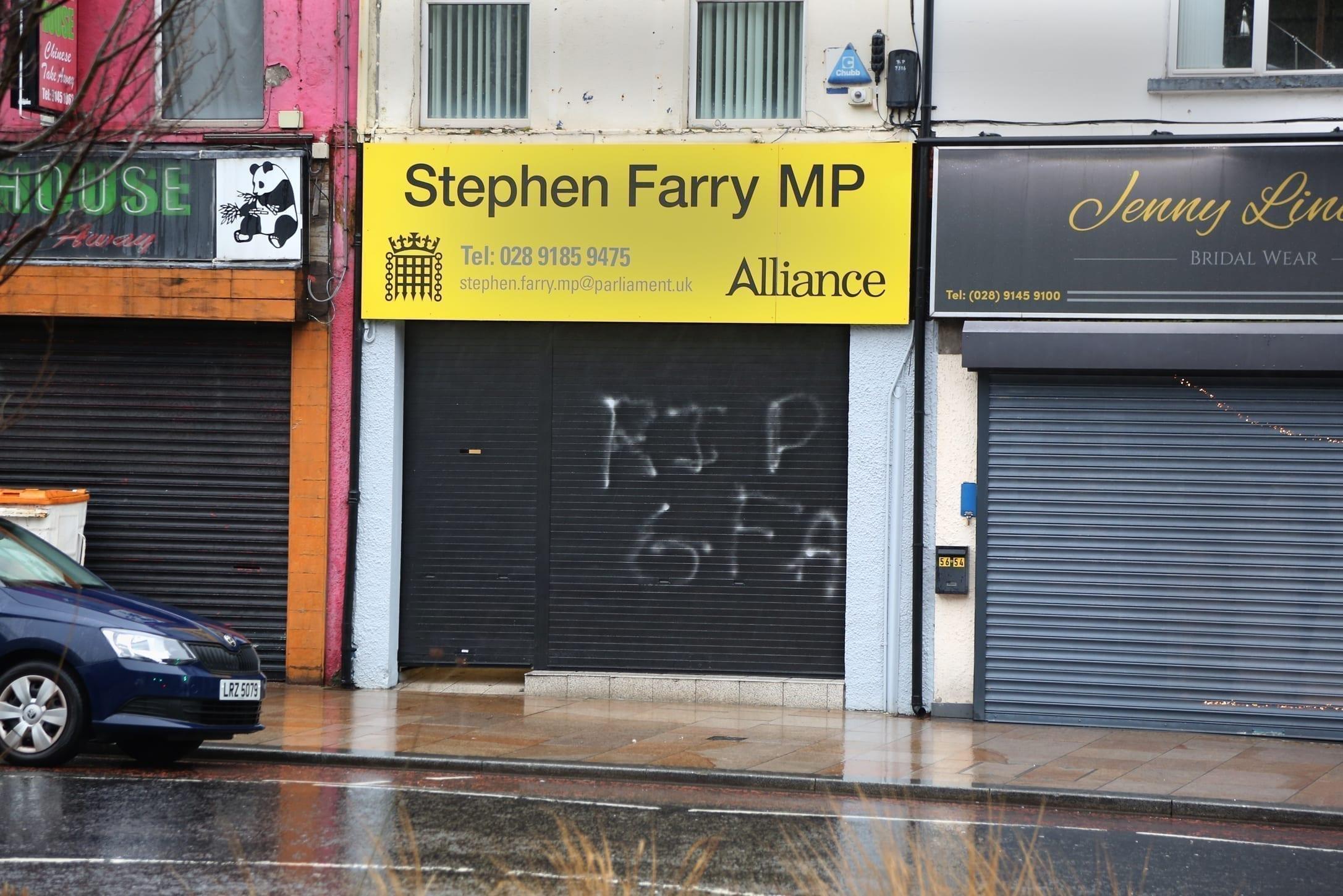 Graffiti attacks denounced on local offices