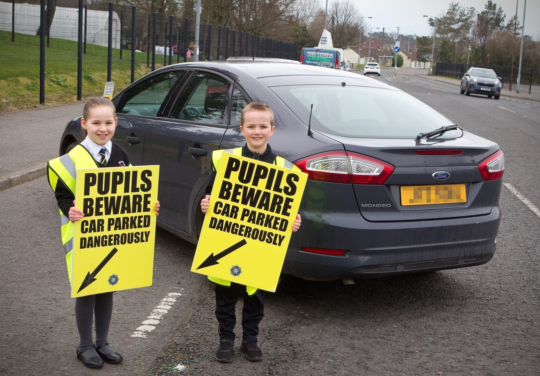 Police and pupils join forces to call out bad parking