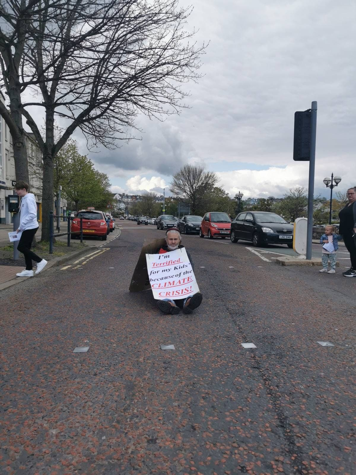 One man protest